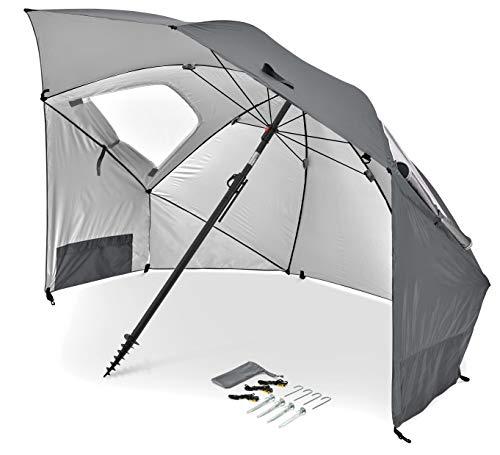 Sport-Brella Premiere UPF 50+ Umbrella Shelter for Sun and Rain Protection (8-Foot, Gray)