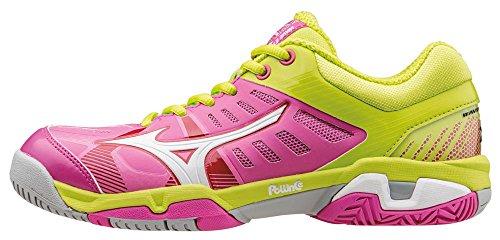 Mizuno Wave Exceed SL AC Wos, Zapatillas de Tenis para Mujer, Rosa (Electric/White/Limepunch), 38 EU