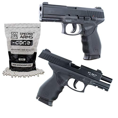 Softair Pistole Taurus PT24/7 Replika mit Schlittenfang BAX-System Kal. 6mm BB <0,5 Joule inklusive 5000 0,20g Specna Arms Softairkugeln