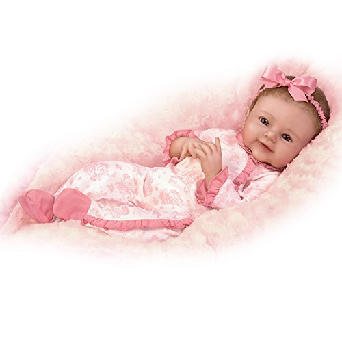The Ashton-Drake Galleries Megan Rose with Hand-Rooted Hair So Truly Real Lifelike & Realistic Weighted Newborn Baby Doll 18-inches