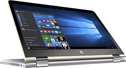 "HP Pavilion x360 14-ba004ns - Ordenador Portátil Convertible Táctil 14"" HD (Intel Core i7-7500U, 8 GB RAM, 1 TB HDD, Intel HD Graphics 620, Windows 10 Home) color plata - teclado QWERTY español [España]"