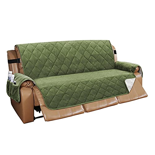 Zoyay Funda de sofá/Cubre Sofa/Protector para Sofás, Antideslizante Sofa Cover Sillón Acolchado/Chaise Longue de Funda, para Mascotas Perro o Gato antisuciedad también-Verde Oliva_2 plazas