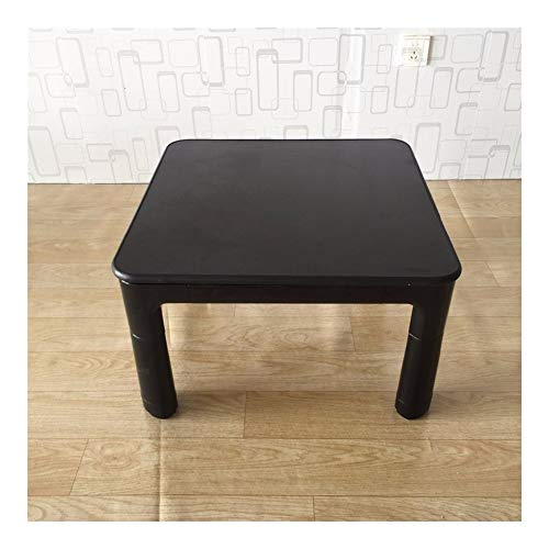 AntiGnor Japanese Kotatsu Table Small 60cm Reversible Top Black/White Living Room Furniture Foot Warmer Heated Low Coffee Table Designer