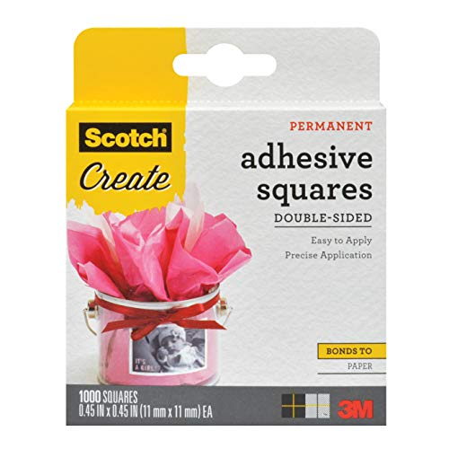 Scotch Brand 0091000CFT Scotch Photo Splits DoubleSided Adhesive Mounting Squares 045 by 045Inch