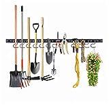 FIAMER Système de rangement réglable robuste 48 cm, rangement de garage, porte-outils de jardin, organiseur d'outils de jardin, organisateur d'outils de montage mural, organiseur de garage.
