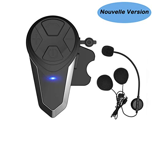 Kit Main Libre Moto, Thokwok BT-S3 Intercom Moto Bluetooth Casque Ski Oreillette Bluetooth pour...