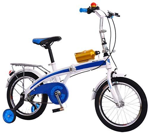 Why Should You Buy JBHURF Children's Folding Bicycles for Men and Women Baby Pedal Bicycles Light Mountain Bikes Park Bicycles (Color : Blue)