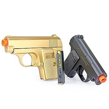 james bond twin pocket pistols 180-fps  gold and black  Airsoft Gun