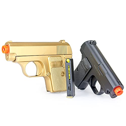james bond twin pocket pistols 180-fps (gold and black)(Airsoft Gun)