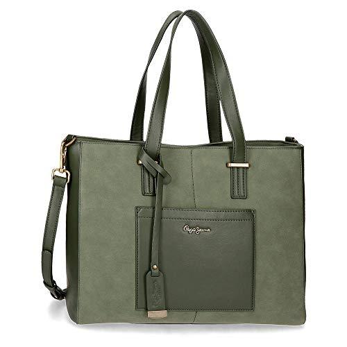 Pepe Jeans Lorain, Bolso Ordenador para Mujer, color Verde