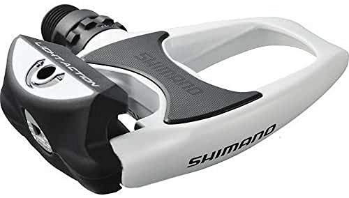 Shimano R-540 Pedales de Carretera, Unisex adulto, Blanco, Única