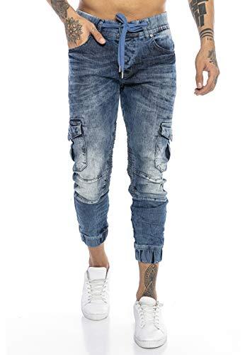 Redbridge Vaqueros Jeans para Hombre Pantalón Estilo Chàndal Denim Algodón Azul W29 L32
