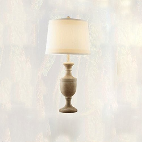 Lampe de table Lampe de table en résine lampe de table chambre à coucher salon lampe de table d'hôtel décoration classique rétro tissu lampe de table de forme ronde, E27