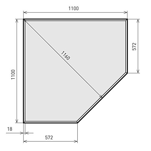 raik B40002 Kamin Glasplatte Diamant inkl. Facette