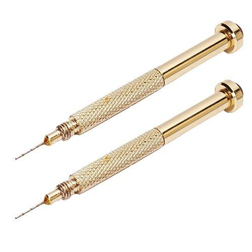 TaoNaisi 2 Gold Handbohrmaschine Baumeln Pierce Piercing Nail Art UV Gel Acryl Tipps Werkzeug