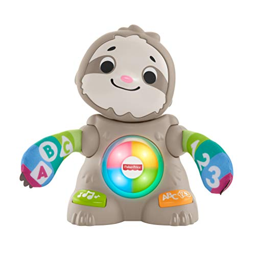 Fisher-Price GHR18 Linkimals Smooth Moves Sloth, Baby Toy with Music & Lights, Multicolour