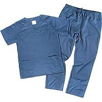 Work Team Uniforme Sanitario, con elástico y cordón en la Cintura, Casaca y Pantalon Unisex Azafata S