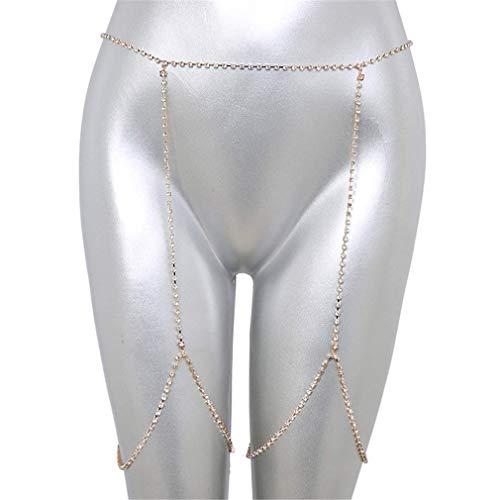 U-K Diamante de imitación Cadena de Muslo Encanto Cadena de Muslo Minimalista Cadena de Muslo, Oro Creativo y útilDurable y útilHábil y Atractivo