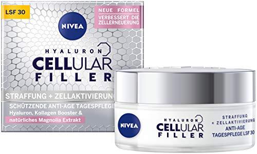 NIVEA Hyaluron Cellular Filler Anti-Age Tagespflege Creme LSF 30 (50 ml), straffende Gesichtspflege mit Magnolia Extrakt, schützende Anti Falten Feuchtigkeitspflege