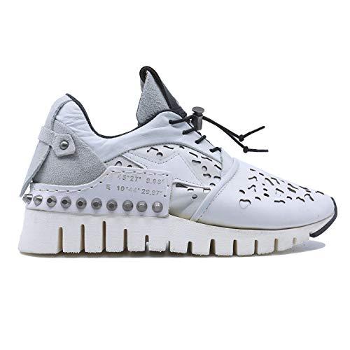 A.S. 98 647126 Damen-Sneaker aus weißem Leder, Weiß - weiß - Größe: 41 EU