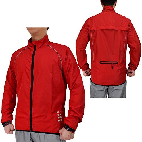 Fahrrad Jacken Herren,Ultraleichte Mountainbike Jacket,Wasserabweisend Atmungsaktiv Fahrradjacke Herren Sommer,Fahrrad Regenjacke,Radjacke Herren,Für Radfahren,Wandern Laufjac(Size:XXXL,Color:rot)