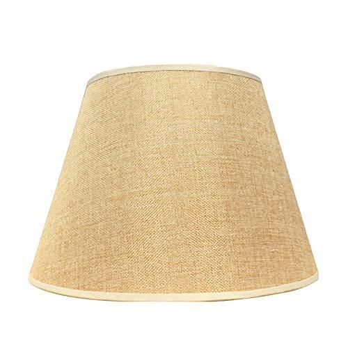 FABBD Runde Leinen Lampenschirm, 100% Reine Hand Lampe Lampenschirm Nachttischlampe Wandlampe Stehlampe Lampenschirm Tuch (Spinne. 13CM-45CM),Beige,16CM×26CM