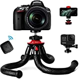 Tripod for iPhone, Fotopro Flexible Camera Tripod with Remote for iPhone 12 XS,Samsung, Waterproof...