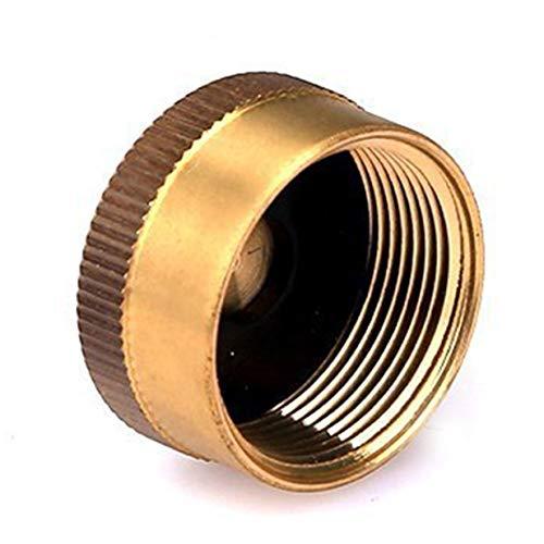 Sairis - Tapón de repuesto de latón sólido de 1 litro para bombona de gas - Tapón sellado para hornillo de camping - Exterior - Cocción universal - Amarillo