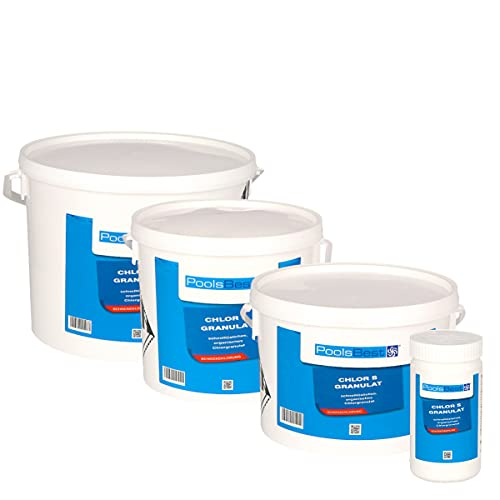 POOLSBEST® 1 kg Chlorgranulat S schnelllöslich 56% Aktivchlor wirksames Granulat - Chlor wirkt schnell gegen Bakterien, Pilze und Viren