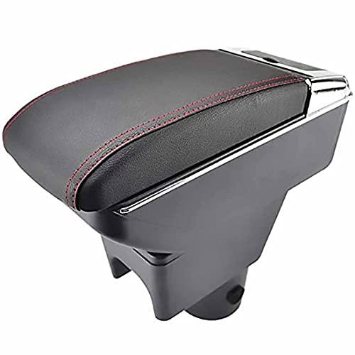 Caja Apoyabrazos Control Central Cuero Doble Capa Para Coche Para Nissan Terrano III 2014-2018, Con Portavasos, Cenicero Y Puertos USB, Accesorios Modelado DecoracióN Interior