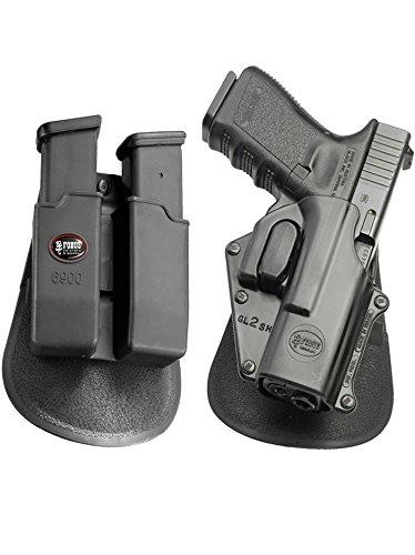 Fobus neu Pack GL-2 SH verdeckte Trage Taktisch Pistolenhalfter Sicherungs Trigger Sicherheit Zuhaltungs System Halfter Doppel-Magazintasche für Glock 17, 19, 22, 23, 31, 32, 34, 35