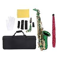 アルト楽器、優れた技量ユニークな外観エレガントな明るい色の楽器、子供のための音楽愛好家のギフト子供(green)