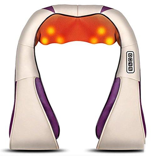 Preisvergleich Produktbild D&F AnsatzMassager Shiatsu Massage Hals Fuß Schulter Rückenmassagegerät Einstellbare Intensität Infrarot-Heizung 4D Rotierende Massage