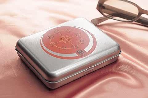 小物の浄化とエネルギーアップ 【RKボックス】 <シルバー&オレンジ>