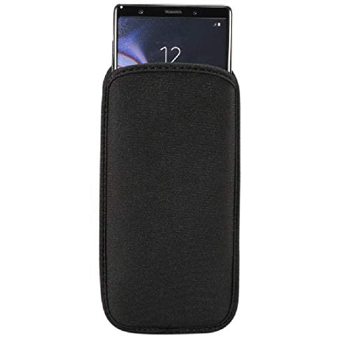 DFV mobile - Waterproof and Shockproof Neoprene Sock Cover, Slim Carry Bag, Soft Pouch Case for Alcatel 2008G - Black