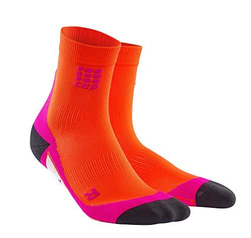 CEP - DYNAMIC+ SHORT SOCKS, Laufsocken kurz für Damen, rot in Größe IV, Sportsocken made by medi