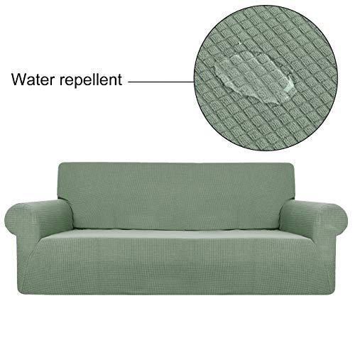 PICTURESQUE Funda Protectora Elástica para Sofá Repelente al Agua Cubierta de Sofá Polar Fleece Decorativa para Sofá Azul 2 Plazas