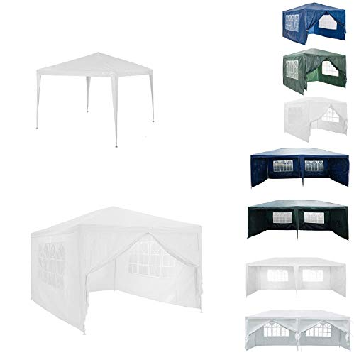AutoBaBa 3M x 4M Gazebo Tent Marquee Canopy Powder Coated Steel Frame for Outdoor Wedding Garden Party Camping, with Side Panels, Waterproof, White