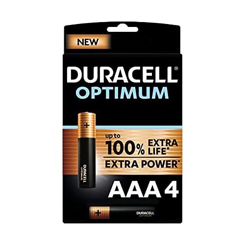 Duracell - Nouveau Piles Alcalines AAA Optimum , 1.5 V LR03 MX2400,...