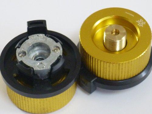 【ノーブランド】OD缶 から CB缶 カセットボンベ(CB缶)でアウトドアガス機器が使用可能 ガスアダプター ...