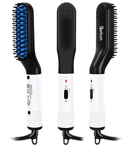 Cepillo alisador eléctrico para barba/cabello, herramientas calientes, plancha para rizar, moldeado rápido para el cuidado de la barba y peinado para hombres