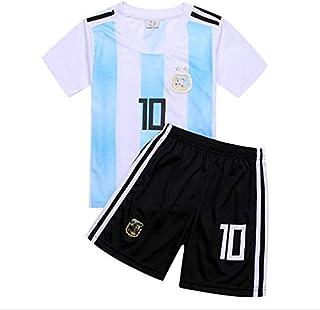 Children Argentina Team No.10 Messi 2018 World Cup Kids Football suits Fans T-shirt -code 100CM115CM