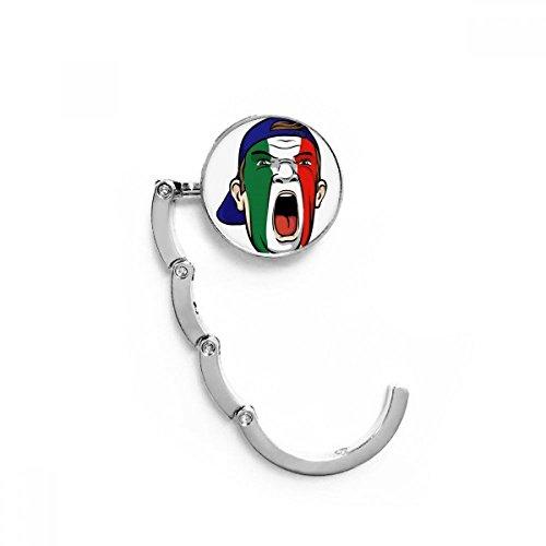 DIYthinker Italia Bandera de Maquillaje Facial Cap Máscara Tabla Gancho Plegable del Bolso de Colgar Titular Escritorio Plegable