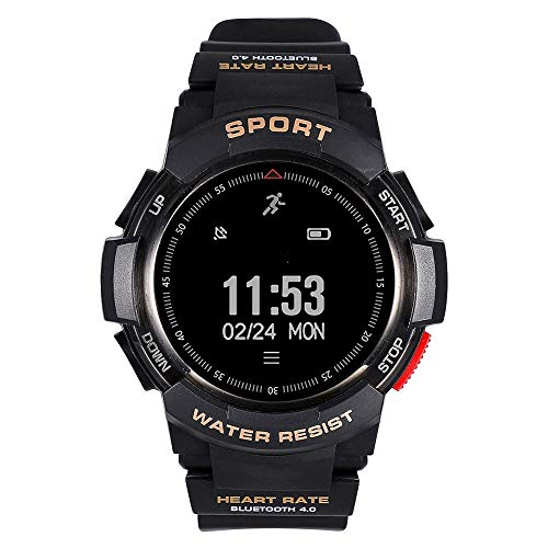 Zer one Fitness Tracker Sports Watch IP68 Waterproof Outdoor Smartwatch Bluetooth 4.0 Health Condition Watch Bracelet GPS Pedometerfor Sleep Monitor for Women Men Running Climing Swimming(Black)
