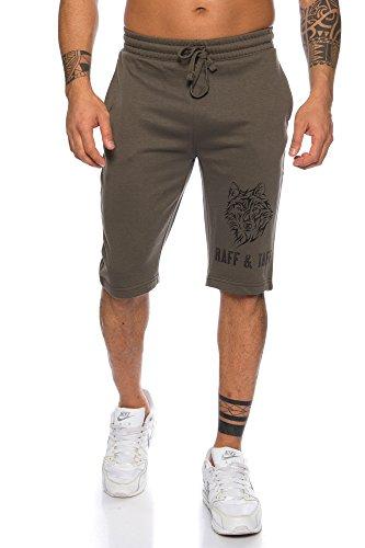 Raff & Taff Herenshorts 'Wolf Instinct' | Sport Shorts zomerbroek korte broek voor vrije tijd sport & dagelijks gebruik | M - 4XL | Joggingbroek trainingsbroek sportbroek fitness gym | elastisch comfortabel flexibel