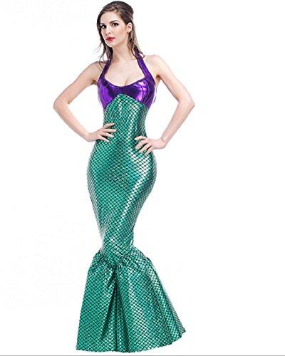 Top Totty purple-green Sexy disfraz de Halloween de sirena