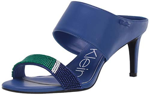 Calvin Klein Damen CECILY Sandale mit Absatz, Scuba Blue/Scuba Green, 37.5 EU