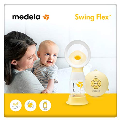 pequeñas Medela Swing Flex Simple Electric Breast Pump, Flex Funnel Breast Pump (including sizes S and M) to match the mother's shape.The two-phase system mimics the baby's breastfeeding rhythm