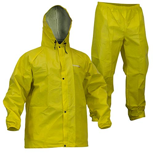 Compass 360 Sport-Lite Packable Rain Suit (Small, Yellow)