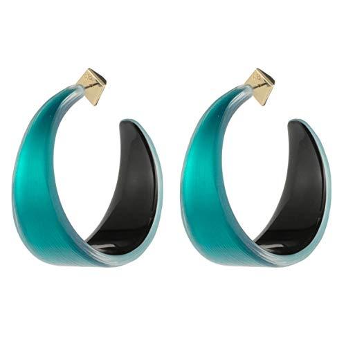 Alexis Bittar Women's Wide Graduated Medium Hoop Earrings